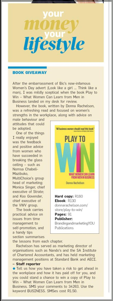 ' A refreshing read' - City Press review of Play to Win